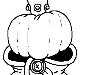 Cool pumpkin dude