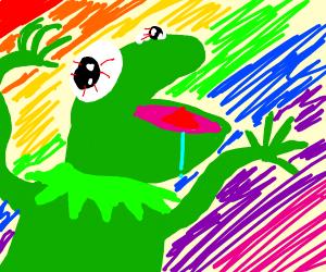 Kermit the frog on LSD