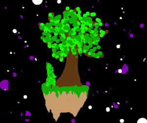 Earth with trees