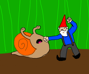 snail gets knomed