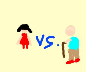 Girl Vs Old Man