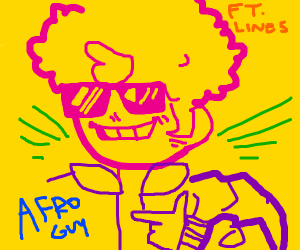 Aforo guy and colorful  lines