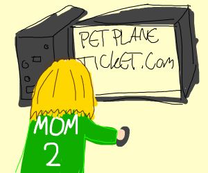 Soccer Mom Looking For Pet's Airplane Ticket