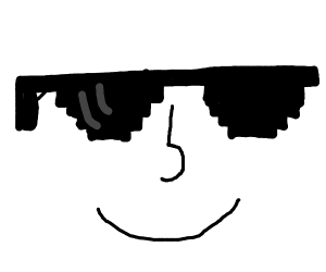 lenny face with 'deal with it' glasses
