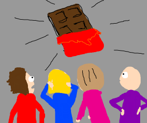 people looking chocolate bar