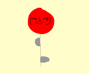 red ballon with thicc string