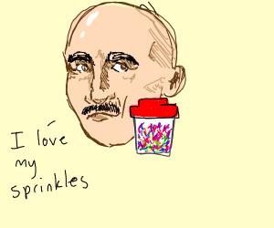a man loves sprinkles