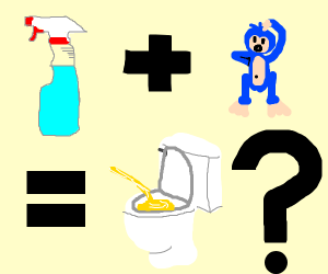 cleaning agent + blue monkey = piss ???