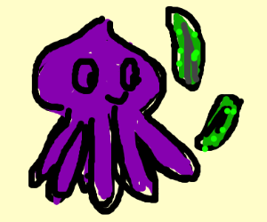 squid with pickles
