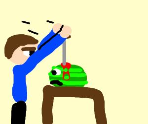 watermelon fighting