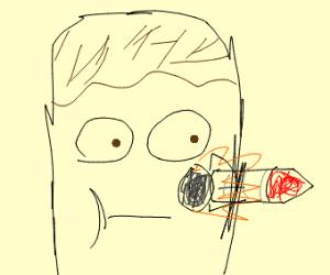 Face Orifice Shooting Rockets