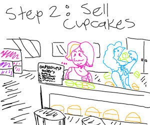 Step 1: open a bakery