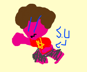 steven universe but he pink as hell-