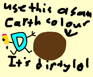 Drawception tips about the color Brown