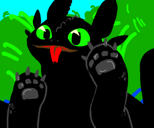 toothless is so cute