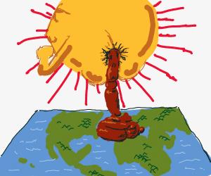 the.. sun?,, pooping... on ..flat earth