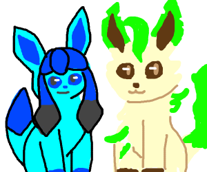 Glaceon and Leafeon (Pokemon)