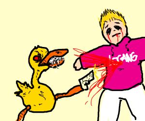 Mutant duck kills Logan Paul