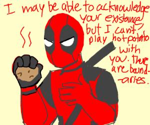 "Deadpool playing ""hotpotato"""
