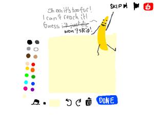Banana wants to skip