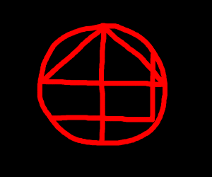 Homestuck House symbol but red & in a circle.