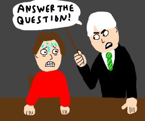 Slytherin student interrogates child