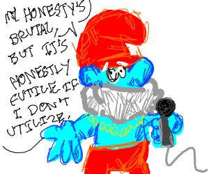 Papa Smurf rapping