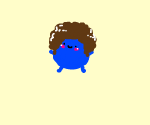 blue guy with afro