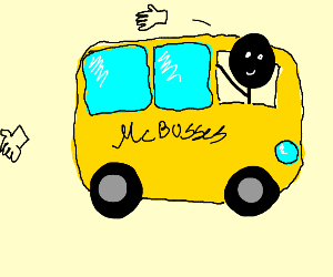 Mad bus throwing hands