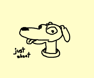 sad dog begging for death