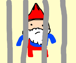 gnome in jail