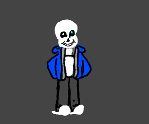 Sans but with human proportions