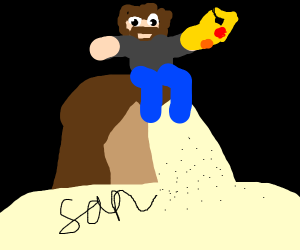Bob ross slays sans using thanos gauntlet