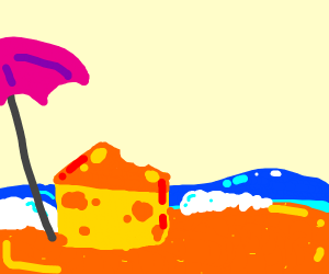 Cheese on a Beach