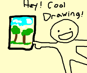 WOW! That's a cool looking drawing!