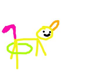 Unicorn with hula hop
