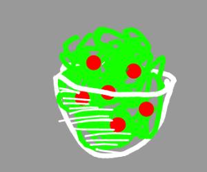 A boul of salad