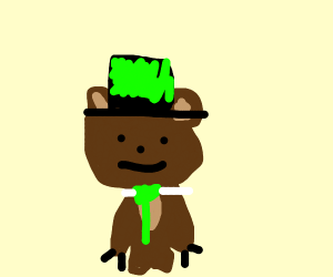 Yogi Bear wearing a Top Hat