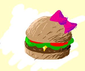 cartoon girl burger