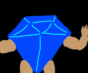 a gem with arms and legs