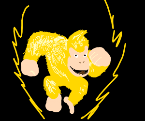 Donkey Kong turns Super Saiyan