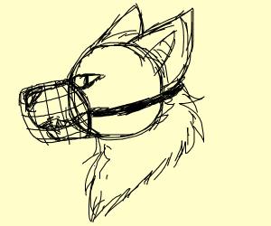 Werewolf muzzled