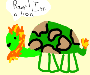 Turtle that wants to be a lion