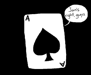 Card agreeing with Jan.