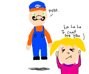 Denial to bootleg Mario