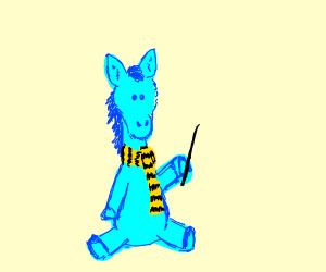 light blue wizard horse