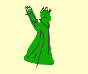 green statue of liberty