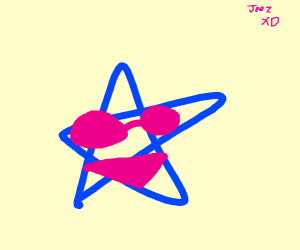 blue star with pink bikini