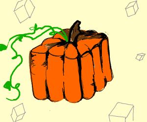 a square pumpkin