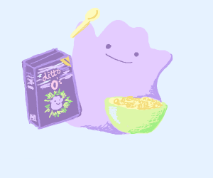 ditto eating cereal